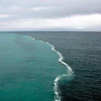 Two Oceans meet.but do not mix.gulf of alaska